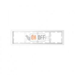 Рамка четверная Merten D-life белый лотос MTN4040-6535