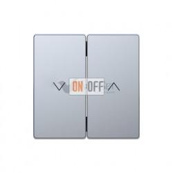 Выключатель управления жалюзи клавишный, 10 А / 250 В~ Merten D-life, нержавеющая сталь MTN3715-0000 - MTN3855-6036