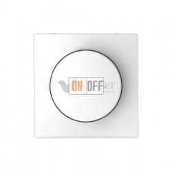 Светорегулятор  поворотно-нажимной 40-600 Вт. для ламп накаливания и галог.220В Merten D-life, белый MTN5133-0000 - MTN5250-6035