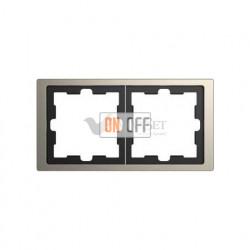 Рамка двойная Merten D-life никель металл MTN4020-6550