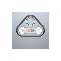 Розетка TV FM SAT  диапазон частот от 4 до 2400 MГц Merten D-life, нержавеющая сталь MTN466097 - MTN4123-6036