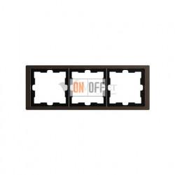 Рамка тройная Merten D-life мокко металл MTN4030-6552