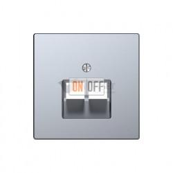 Розетка телефонная двойная RJ11 Merten D-life, нержавеющая сталь EPUAE8-8UPO - MTN4522-6036
