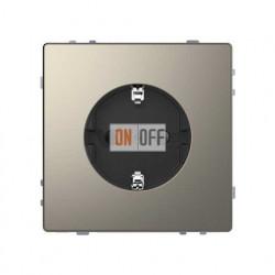 Розетка с заземлением 16 А / 250 В~, безвинтовые зажимы Merten D-life, никель металл MTN2301-6050