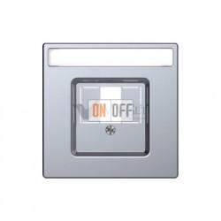 Аудиорозетка одинарная для колонок Merten D-life, нержавеющая сталь MTN466919 - MTN4250-6036