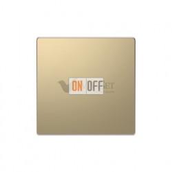Заглушка с опорной пластиной Merten D-life, шампань металл MTN4075-6051