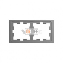 Рамка двойная Merten D-life нержавеющая сталь MTN4020-6536
