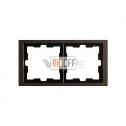 Рамка двойная Merten D-life мокко металл MTN4020-6552