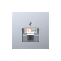 Розетка компьютерная одинарная RJ45 6-й кат. Merten D-life, нержавеющая сталь EPUAE8UPOK6 - MTN4521-6036