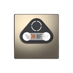 Розетка TV FM проходная, диапазон частот от 4 до 2400 MГц Merten D-life, никель металл MTN466098 - MTN4123-6050