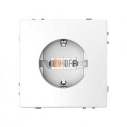 Розетка с заземлением 16 А / 250 В~, безвинтовые зажимы Merten D-life, белый MTN2301-6035