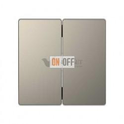 Переключатель двухклавишный (с 2-х мест) 10 А / 250 В~ Merten D-life, никель металл MTN3126-0000 - MTN3400-6050