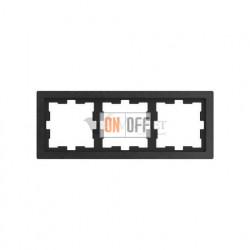 Рамка тройная Merten D-life базальт, камень MTN4030-6547