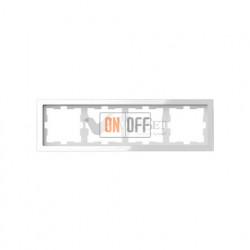 Рамка четверная Merten D-life белый кристалл, стекло MTN4040-6520