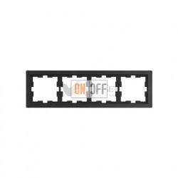 Рамка четверная Merten D-life базальт, камень MTN4040-6547