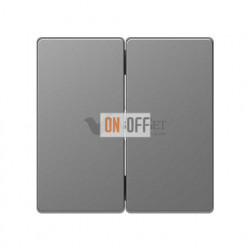 Выключатель двухклавишный, 10 А / 250 В~ Merten D-life, нержавеющая сталь MTN3115-0000 - MTN3400-6036