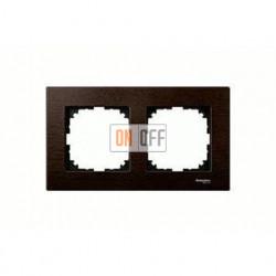 Рамка двойная, для горизон./вертикал. монтажа Merten M-Elegance, венге MTN4052-3471