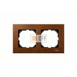Рамка двойная, для горизон./вертикал. монтажа Merten M-Elegance, вишня MTN4052-3472