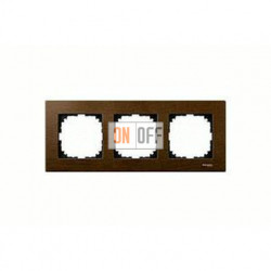 Рамка тройная, для горизон./вертикал. монтажа Merten M-Elegance, орех MTN4053-3473
