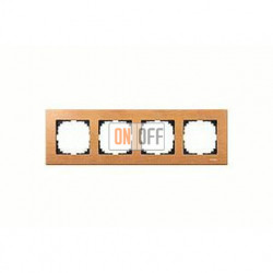 Рамка четверная, для горизон./вертикал. монтажа Merten M-Elegance, бук MTN4054-3470