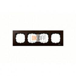 Рамка четверная, для горизон./вертикал. монтажа Merten M-Elegance, венге MTN4054-3471
