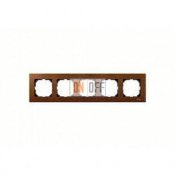 Рамка пятерная, для горизон./вертикал. монтажа Merten M-Elegance, вишня MTN4055-3472