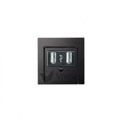 Розетка USB двойная для зарядки, антрацит MTN4366-0100 - MTN297914