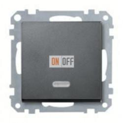 Выключатель одноклавишный с подсветкой, универс. (вкл/выкл с 2-х мест) 10 А / 250 В~ MTN3136-0000 - MTN431014