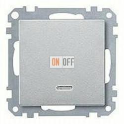 Выключатель одноклавишный с подсветкой, универс. (вкл/выкл с 2-х мест) 10 А / 250 В~ MTN3136-0000 - MTN431060