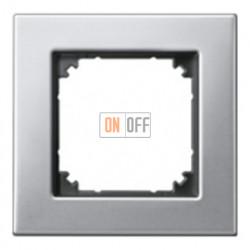 Рамка одинарная Merten M-Elegance, платина-серебро MTN403160
