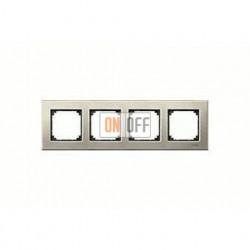 Рамка четверная, для горизон./вертикал. монтажа Merten M-Elegance, титан MTN403405