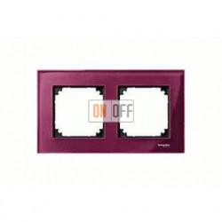 Рамка двойная, для горизон./вертикал. монтажа Merten M-Elegance, рубин MTN4020-3206