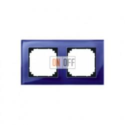 Рамка двойная, для горизон./вертикал. монтажа Merten M-Elegance, сапфир MTN4020-3278