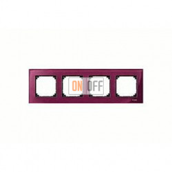 Рамка четверная, для горизон./вертикал. монтажа Merten M-Elegance, рубин MTN4040-3206
