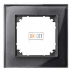 Рамка одинарная Merten M-Elegance, черный оникс MTN404103