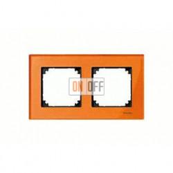 Рамка двойная, для горизон./вертикал. монтажа Merten M-Elegance, оранжевый кальцит MTN404202