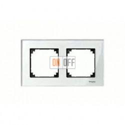 Рамка двойная, для горизон./вертикал. монтажа Merten M-Elegance, бриллиант MTN404219