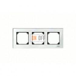 Рамка тройная, для горизон./вертикал. монтажа Merten M-Elegance, бриллиант MTN404319