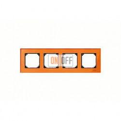 Рамка четверная, для горизон./вертикал. монтажа Merten M-Elegance, оранжевый кальцит MTN404402