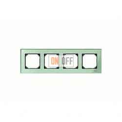 Рамка четверная, для горизон./вертикал. монтажа Merten M-Elegance, изумруд MTN404404
