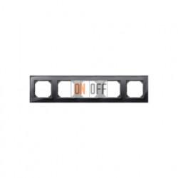 Рамка пятерная, для горизон./вертикал. монтажа Merten M-Elegance, черный оникс MTN404503