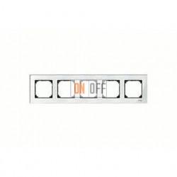 Рамка пятерная, для горизон./вертикал. монтажа Merten M-Elegance, бриллиант MTN404519