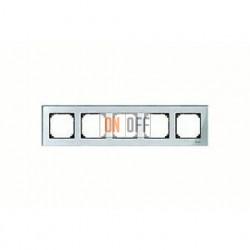 Рамка пятерная, для горизон./вертикал. монтажа Merten M-Elegance, алмаз MTN4050-3260
