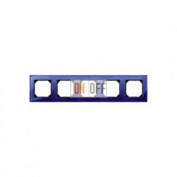 Рамка пятерная, для горизон./вертикал. монтажа Merten M-Elegance, сапфир MTN4050-3278