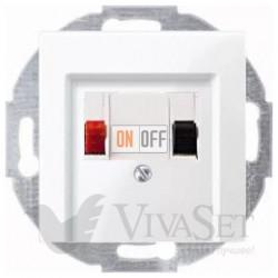 Аудиорозетка одинарная для колонок, белый глянцевый MTN466919 - MTN296019
