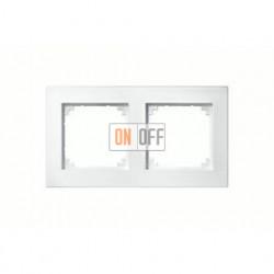Рамка двойная, для горизон./вертикал. монтажа Merten M-Plan, белый глянцевый MTN515219