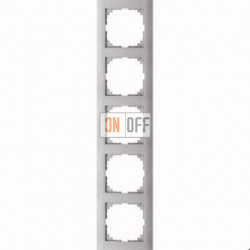 Рамка 5 местная Merten M-Pure алюминий MTN4050-3660