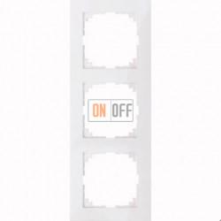 Рамка 3 местная Merten M-Pure белый глянец MTN4030-3619