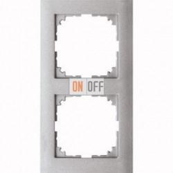 Рамка 2 местная Merten M-Pure алюминий MTN4020-3660