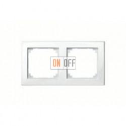 Рамка двойная, для горизон./вертикал. монтажа Merten M-Smart, белый глянцевый MTN478219